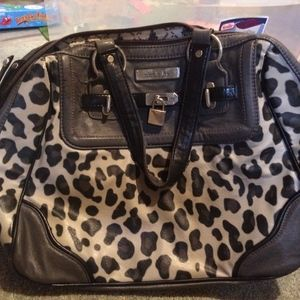 Black and Grey Leopard Purse
